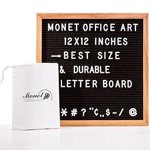 Black Felt Changeable Letter Board 12