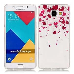 case cover para Samsung Galaxy A3 (2016 Version) / A310,Crisant Flores y amor Diseño Protección suave Transparente TPU Gel silicona Teléfono Celular Back funda Carcasa para Samsung Galaxy A3 (2016 Version) / A310