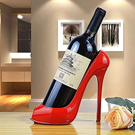 Image Unavailable. Image not available for. Color  URToys New Trendy High  Heel Shoe shape Red Wine Rack Silicone Wine Bottle Holder ... 78a652f2fd4a