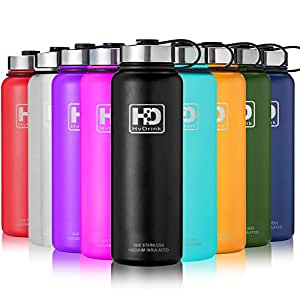21 oz Vacuum Insulated Stainless Steel Water Bottle, Leak Proof and Built-in Filter   Best Double Walled Travel Wide Mouth Coffee Mug(Large Small) for Outdoor Sports Camping,Keeps Drink Hot & Cold