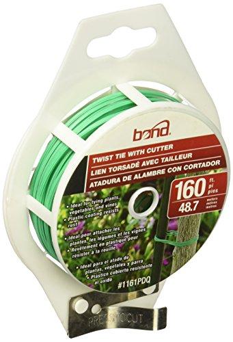 Bond 1161 160-Foot Gardening Twist Tie Spool With Cutter (Tie Dispenser Twist)