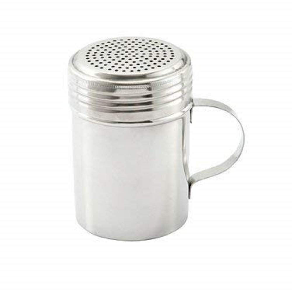 Stainless Steel Dredge Shaker with Handle, Set of 4 – 10 oz. by Culinary Depot (Image #1)
