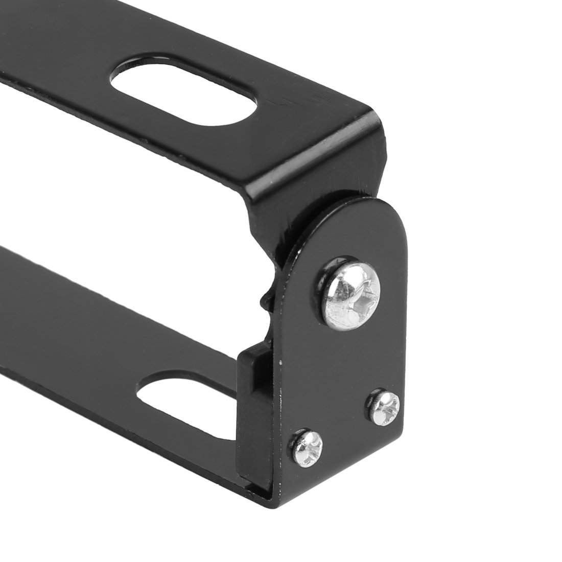 uxcell Black Metal Adjustable Angle Motorcycle License Plate Holder Bracket Frame Stand