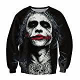 Parakeet Heath Ledger Joker Tattoo Sweatshirt Modern Pattern Long Sleeve M
