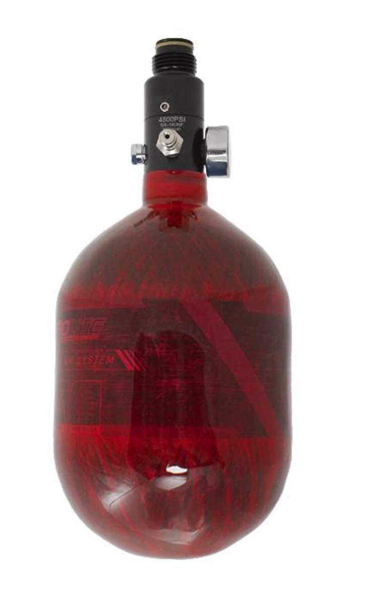 HK Army Aerolite Carbon Fiber HPA Paintball Tank Air System - 48ci / 4500psi (Red) by HK Army