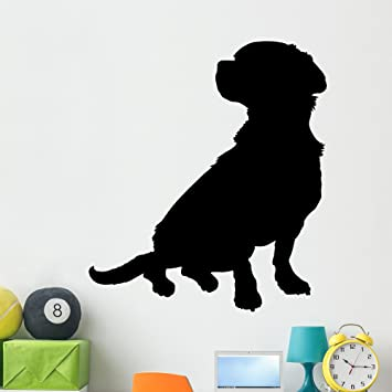 Amazoncom Mixed Breed Silhouette Wall Decal By Wallmonkeys Peel - Sporting kc wall decals