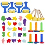 SODIAL Early Learning Mini Flower Sponge Painting Brushes Craft Brushes Set for Kids Shipping by FBA