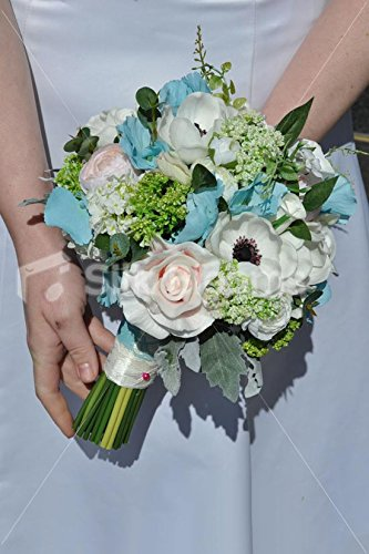 Real-Touch-Rose-Anemone-Ranunculus-Bridesmaids-Wedding-Bouquet