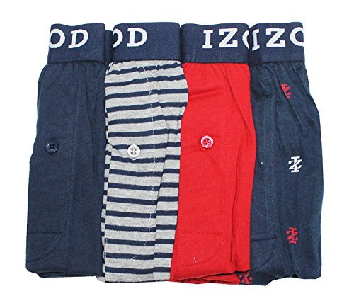 IZOD Mens Cotton Knit Boxers 4-pack (XXL)