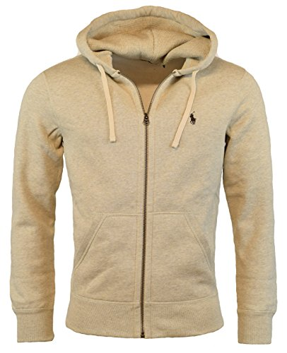 Polo Ralph Lauren Classic Full-Zip Fleece Hooded Sweatshirt - XXL - Almond Heather -