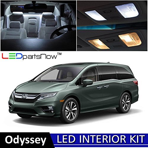 LEDpartsNow 2018 Honda Odyssey LED Interior Lights Accessories Replacement Package Kit (15 Pieces), (Odyssey Vanity Lighting)