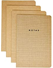 Kit 4 Cadernetas Costuradas Notas Mix, Cicero