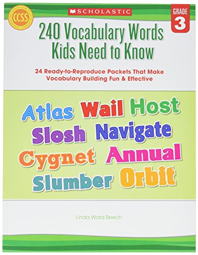 - Scholastic 9780545468633 240 Vocabulary Words Kids Need to Know, Grade 3