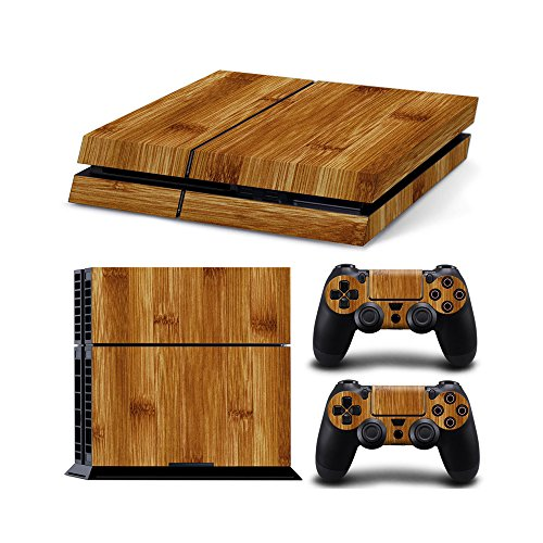 Gam3Gear Vinyl Sticker Pattern Decals Skin for PS4 Console & Controller- Wood v4