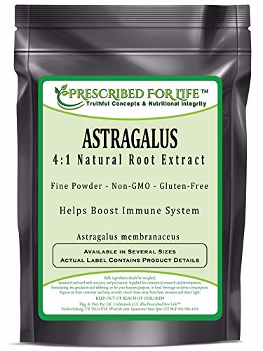 Astragalus - 4:1 Natural Root Extract Powder (Astragalus membranaceus), 12 oz