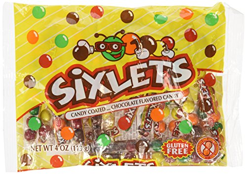 Sixlets Candy Coated Chocolate Flavored Candy Gluten Free, 4 Oz (1 Pk)