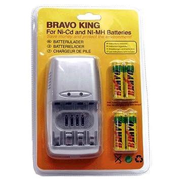 Cargador BRAVO KING NI-CD/NI-MH/AA/AAA/4 Piezas.