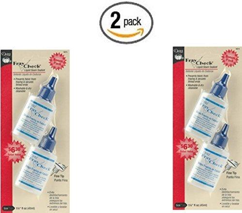 Dritz 1674 Fray Check Liquid Seam Sealant, 0.75-Ounce, 2-Pack (x2) by Dritz