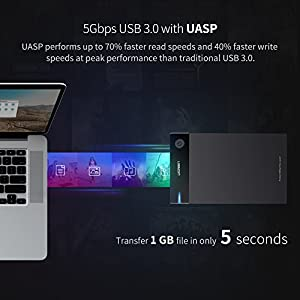 UGREEN External Hard Drive Enclosure 3.5 USB 3.0 to SATA Hard Disk Case Housing with Power Adapter for 3.5 2.5 Inch Sandisk,WD,Seagate,Toshiba,Samsung,Hitachi SATA III,HDD,SSD 10TB,PS4,Tool Free UASP