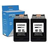 HWDID Remanufactured Ink Cartridge replacement for hp 61 XL 61XL (2 Black) CH563WN,Compatible for Envy 4500 Officejet 4630 Deskjet 1050 1510 2540 3510