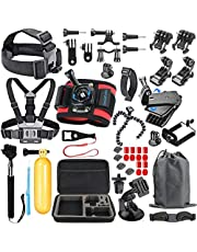 SmilePowo Accessory Kit for GoPro Hero 7,6,5 Black, Hero 2018,Hero Session,5,4,3,GoPro Fusion, SJCAN,XIAOMI,AKASO/APEMAN/ DBPOWER,Lightdow,Campark,Action Camera Accessory Kit,Chest Strap,Float Handle