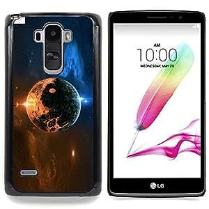 - Space Planet - - Cubierta del caso de impacto con el patr??n Art Designs FOR LG G Stylo / LG LS770 / LG G4 Stylus Queen Pattern