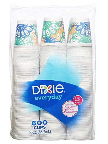 Dixie Bath Cups Coordinating Designs, 3 oz, 600Count