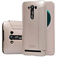 【MYLB】 PU flip Leather Cover Hard Phone Case Cover For asus zenfone 2 laser ZE550KL/ZE551KL smartphone (Gold)