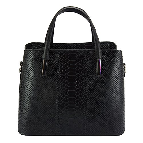 Borsa Pelle Nero Florence 7005 A Market Vanessa Stampato Mano Leather In EaqCxa0