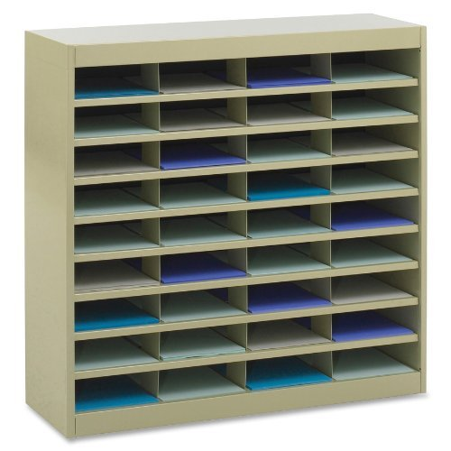 - Safco Products E-Z Stor Literature Organizer, 72 Compartment, 9241TSR, Tropic Sand Powder Coat Finish, Commercial-Grade Steel Construction, Eco-Friendly (Renewed)