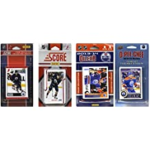 NHL Edmonton Oilers 4 Different Licensed Trading Card Team Sets, Brown, One Size
