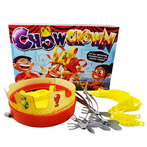 Micrkrowen Chow Crown Game Kids Electronic Spinning Crown Snacks Food Kids & Family Game -