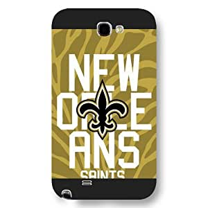UniqueBox Customized NFL Series Case for Iphone 5/5S, NFL Team New Orleans Saints Logo Iphone 5/5S, Only Fit for Iphone 5/5S (Black Frosted Shell)