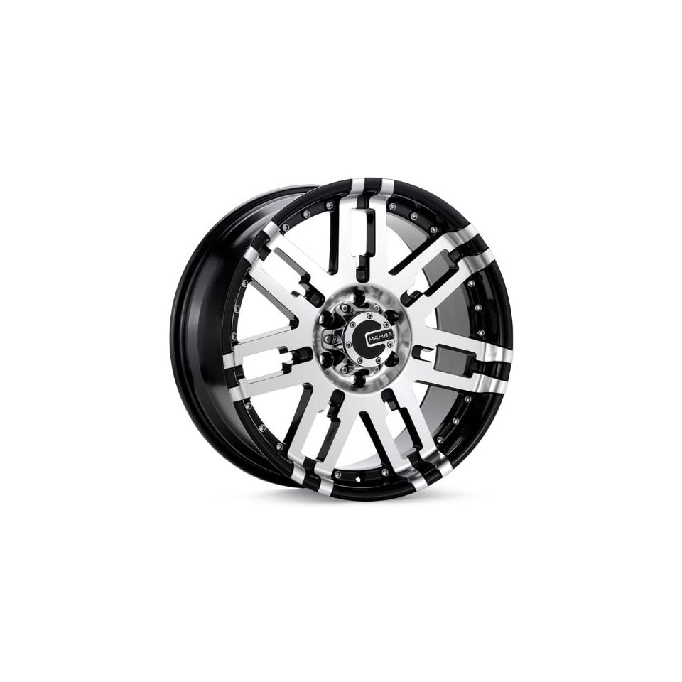 17x0 Mamba Type M2 (Gloss Black / Machined) Wheels/Rims 5x114.3 (MAMM2 7865B+20)