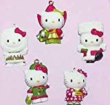 5-Piece Global Hello Kitty Miniature Christmas Ornament Gift Set