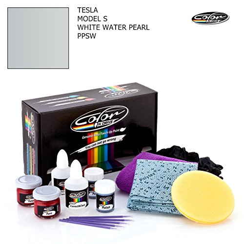 (TESLA MODEL S / WHITE WATER PEARL - PPSW / COLOR N DRIVE TOUCH UP PAINT SYSTEM FOR PAINT CHIPS AND SCRATCHES / PLUS PACK)