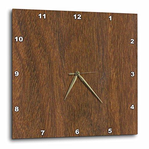 3dRose dpp_41630_3 Teak Wood Wall Clock, 15 by 15-Inch