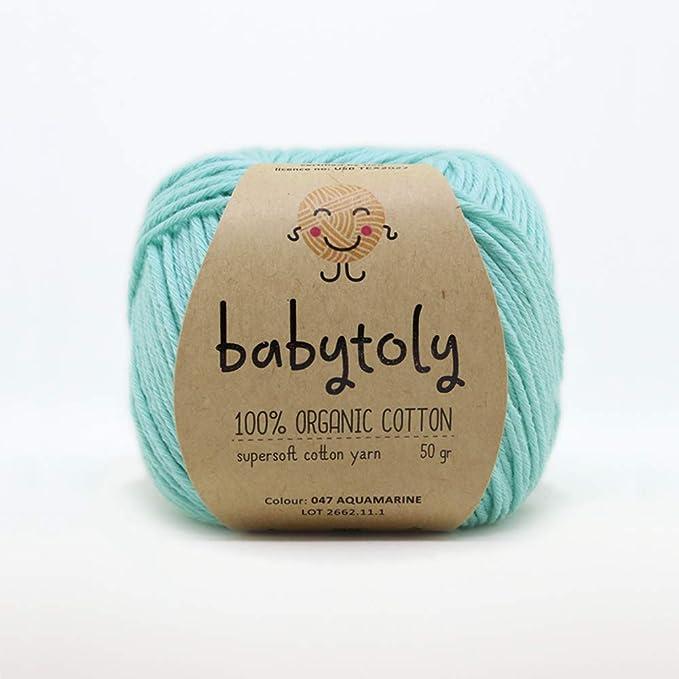 Cotton 306 yd 280 m 3.5 oz Russian Yarn Blue Yarn long Made in Russia