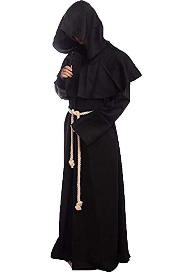 Amazon.com: wecos Friar con capucha medieval Monje ...