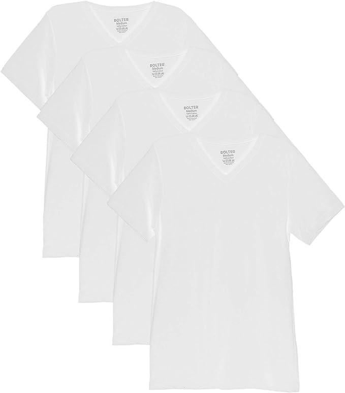 Bolter 4 Pack Mens Everyday Cotton Blend Short Sleeve T-Shirt