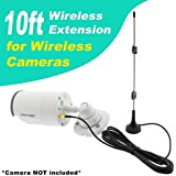 Crystal Vision Premium HD Wireless Camera Antenna Extension for Crystal Vision, Lorex, Funlux, XmartO, Reolink, Annke, Zosi, A-Zone, Smonet, Zmodo