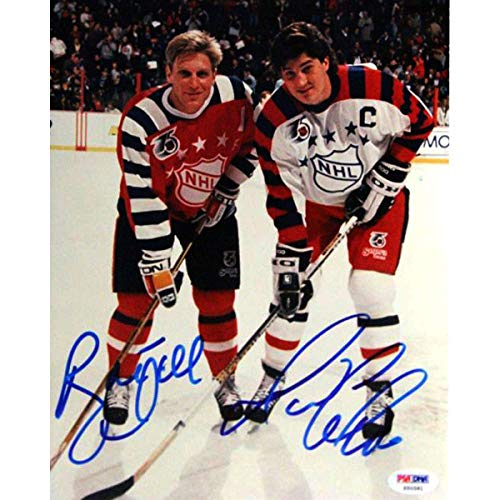 - Mario Lemieux & Brett Hull Autographed 8x10 Photo #S50581 - PSA/DNA Certified - Autographed NHL Photos