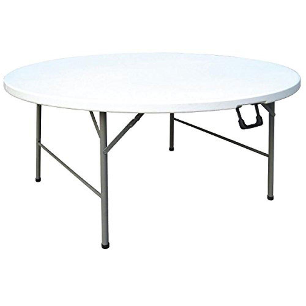Amzdeal Tavolo pieghevole bianco allaperto 1,2 m con quattro sedie bianche picnic spiaggia giardino senza foro ombrello ecc. feste ideale per campeggio