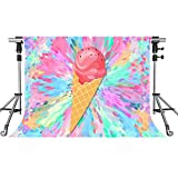 ice cream backdrop - MEETS 7x5ft Ice Cream Backdrop Cartoon Painting Photography Background Themed Party Photo Booth YouTube Backdrop GEMT746