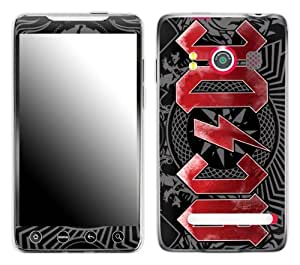 Zing Revolution MS-ACDC30132 AC/DC - Black Ice Cell Phone Cover Skin for HTC Evo 4G