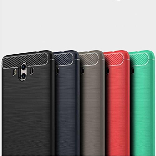 Funda Huawei Mate10,Funda Fibra de carbono Alta Calidad Anti-Rasguño y Resistente Huellas Dactilares Totalmente Protectora Caso de Cuero Cover Case Adecuado para el Huawei Mate10 D