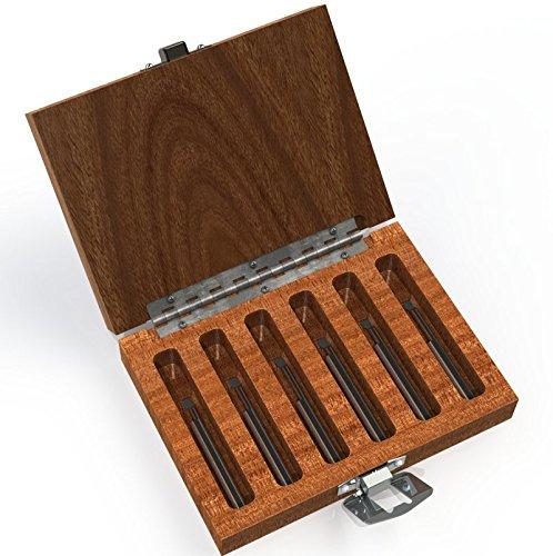 6 Pc - 1//8 Shank -  Includes: BB-050300, BB-060300, BB-080300, BB-100400, BB-100600, /& BB-110500 RH Radius Set Micro 100 BB-1 Boring Tool