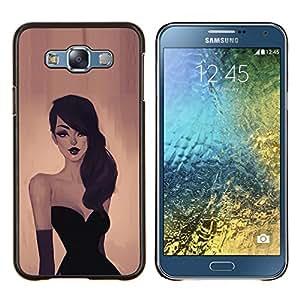 LECELL--Funda protectora / Cubierta / Piel For Samsung Galaxy E7 E700 -- Mujer Elegante --