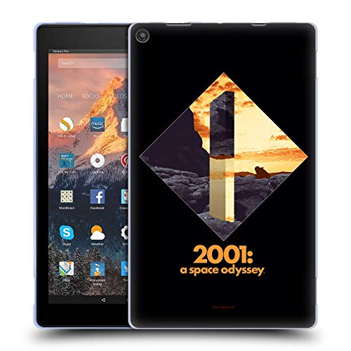 Official 2001: A Space Odyssey Monolith Key Art Soft Gel Case Compatible for Amazon Fire HD 10 (2017)