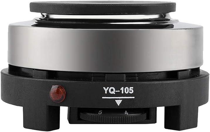 Dark Walnut Wood Grain Placa calefactora de Bebidas el/éctrica compacta y Liviana Calentador de Tazas de caf/é Puerto USB de 5 V Ideal para Usar en casa y Oficina